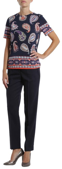 Item - Navy Wool Cropped Trousers Pants Size 4 (S, 27)