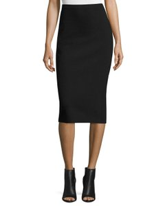 T by Alexander Wang Office Pencil Straight Formal Knit Skirt Black
