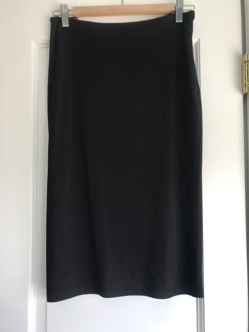 T by Alexander Wang Office Pencil Straight Formal Knit Skirt Black Image 1