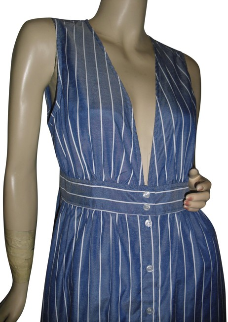 Preload https://img-static.tradesy.com/item/25345419/urban-outfitters-denim-blue-white-stripes-low-v-neck-look-long-casual-maxi-dress-size-8-m-0-1-650-650.jpg