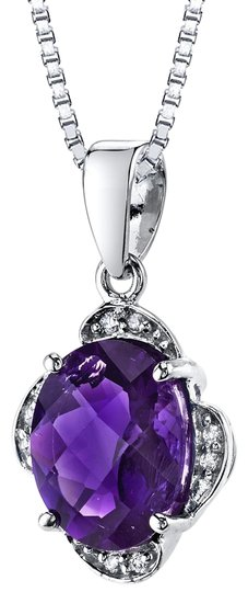 Preload https://img-static.tradesy.com/item/25345453/white-gold-amethyst-oval-pendant-necklace-0-1-540-540.jpg