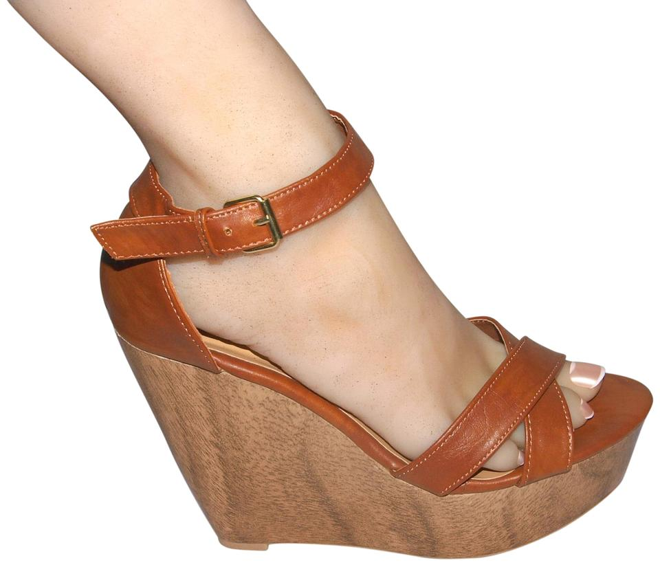2fbc029ac Toi et Moi Brown Platform Sandals Wedges Size US 7 Regular (M, B ...