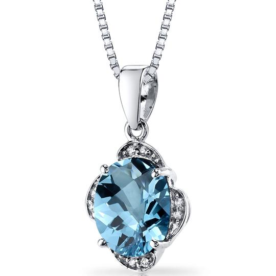 other Topaz Oval Pendant Image 2