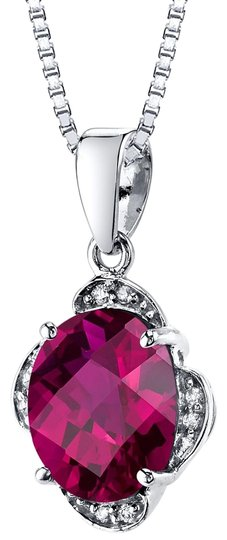 Preload https://img-static.tradesy.com/item/25345545/white-gold-ruby-oval-pendant-necklace-0-1-540-540.jpg