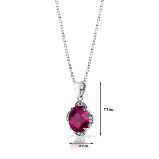 other Ruby Oval Pendant Image 1