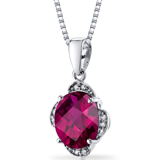 other Ruby Oval Pendant Image 2