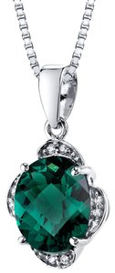 other Emerald Oval Pendant