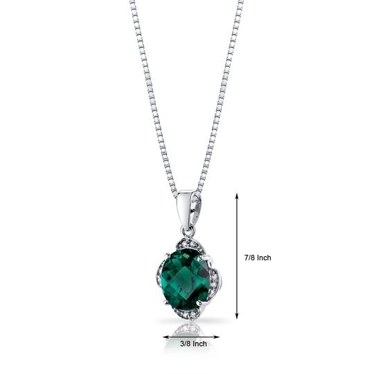 other Emerald Oval Pendant Image 1