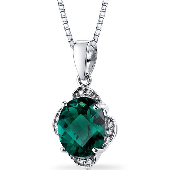 other Emerald Oval Pendant Image 2