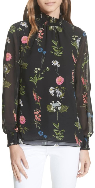 Preload https://img-static.tradesy.com/item/25345593/ted-baker-black-taalia-florence-floral-blouse-size-6-s-0-1-650-650.jpg