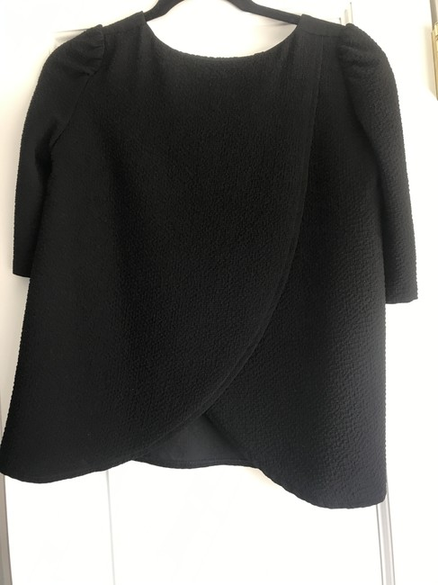 ba&sh Textured Puff Swing Open French Top Black Image 1