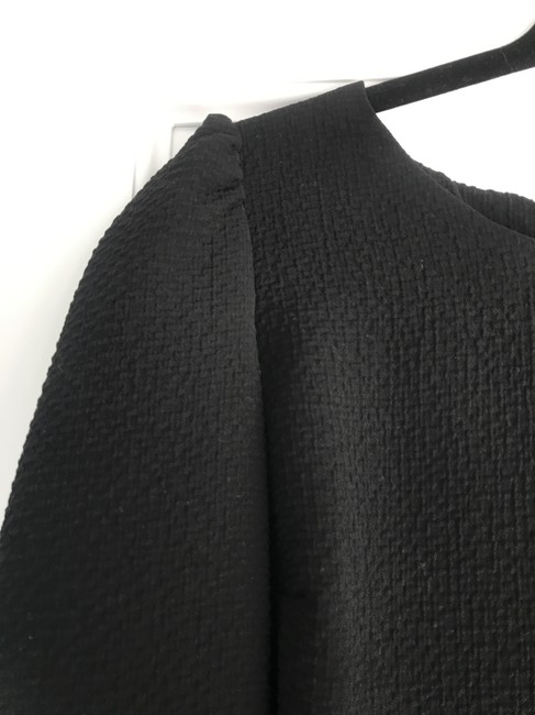 ba&sh Textured Puff Swing Open French Top Black Image 4