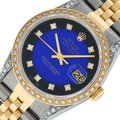 Rolex Mens Datejust Ss/Yellow Gold with Diamond Dial Watch Image 0