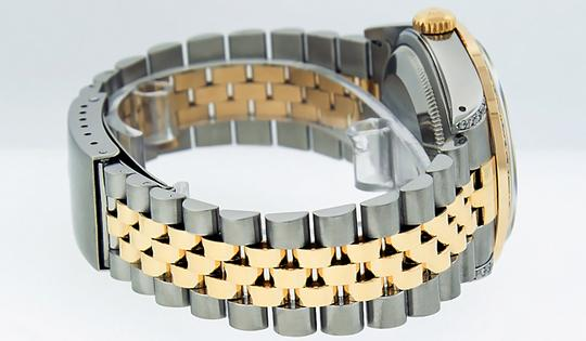Rolex Mens Datejust Ss/Yellow Gold with Diamond Dial Watch Image 2