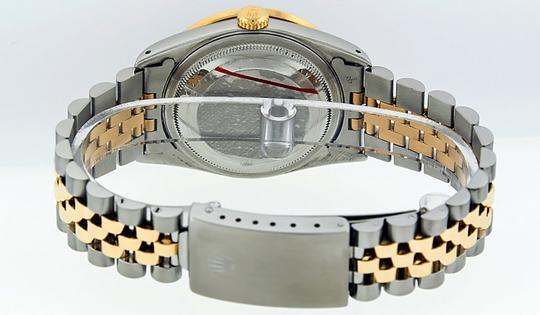 Rolex Mens Datejust Ss/Yellow Gold with Diamond Dial Watch Image 5