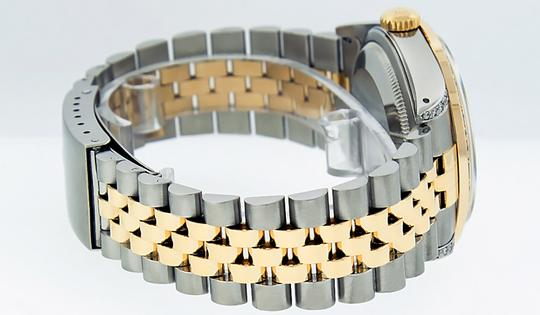 Rolex Mens Datejust Ss/Yellow Gold with Silver Diamond Dial Watch Image 2