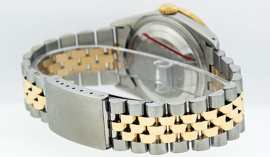Rolex Mens Datejust Ss/Yellow Gold with Silver Diamond Dial Watch Image 3
