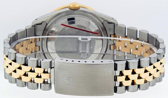 Rolex Mens Datejust Ss/Yellow Gold with Silver Diamond Dial Watch Image 4