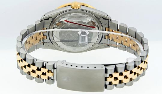 Rolex Mens Datejust Ss/Yellow Gold with Silver Diamond Dial Watch Image 5