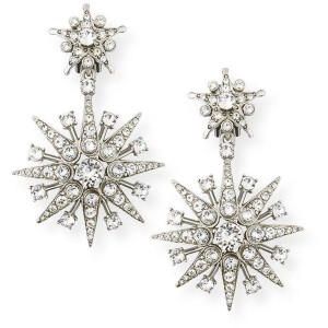 Oscar de la Renta Sea Urchin Star Burst Drop Earrings