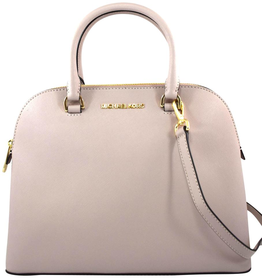 17f2180ceef200 Michael Kors Cindy Large Dome Pink Oleander Leather Satchel - Tradesy