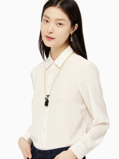 Kate Spade NEW 12K Gold Jazz Things Up Cat Pendant Necklace Image 1