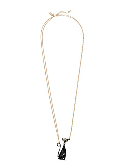 Kate Spade NEW 12K Gold Jazz Things Up Cat Pendant Necklace Image 2