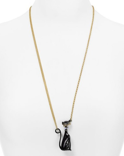 Kate Spade NEW 12K Gold Jazz Things Up Cat Pendant Necklace Image 4