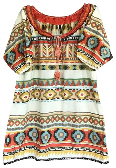 Preload https://img-static.tradesy.com/item/25345770/hot-and-delicious-tribal-aztec-tunic-size-8-m-0-2-650-650.jpg