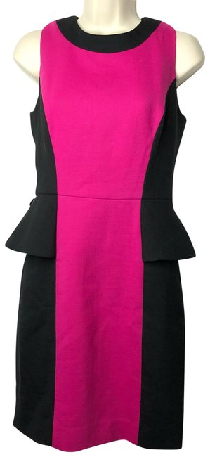 Preload https://img-static.tradesy.com/item/25345793/milly-black-pink-peplum-sheath-wool-mid-length-short-casual-dress-size-4-s-0-1-650-650.jpg