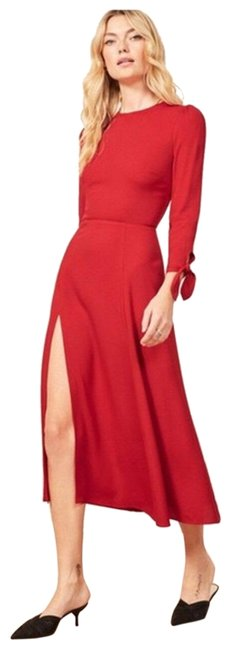 Item - Red Zelda Long Sleeve Mid-length Night Out Dress Size 2 (XS)