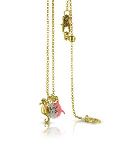 Juicy Couture NEW Seahorse Coral Charmy Necklace