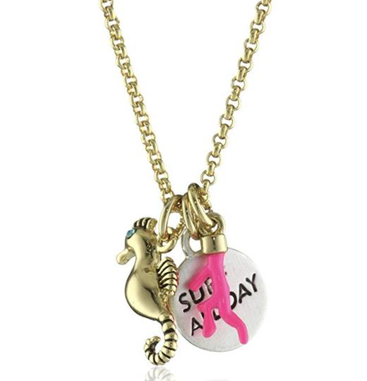 Juicy Couture NEW Seahorse Coral Charmy Necklace Image 2