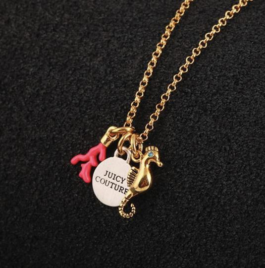 Juicy Couture NEW Seahorse Coral Charmy Necklace Image 6