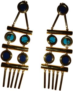 Joanna Laura Constantine NWT $358 Joanna Laura Constantine gold plated statement earrings