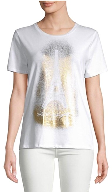 Preload https://img-static.tradesy.com/item/25345975/karl-lagerfeld-white-eiffel-tower-t-shirt-blouse-size-2-xs-0-1-650-650.jpg