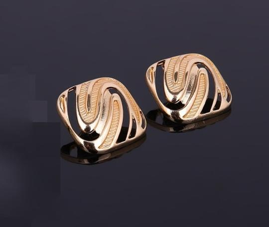 Other 18K Gold Plated Geometric Necklace Earrings/ Image 1