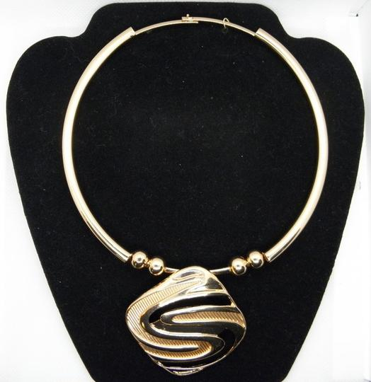 Other 18K Gold Plated Geometric Necklace Earrings/ Image 4