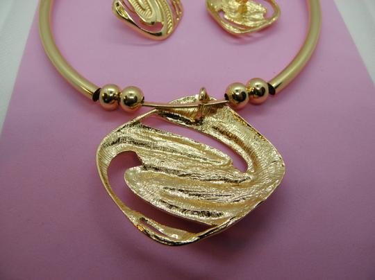 Other 18K Gold Plated Geometric Necklace Earrings/ Image 9