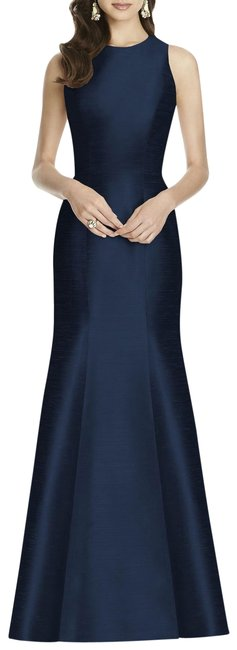 Preload https://img-static.tradesy.com/item/25346024/alfred-sung-midnight-blue-dupioni-bow-back-trumpet-gown-long-formal-dress-size-4-s-0-1-650-650.jpg