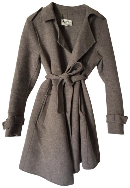 Item - Grey Pamela Wool Trench Coat Size 12 (L)