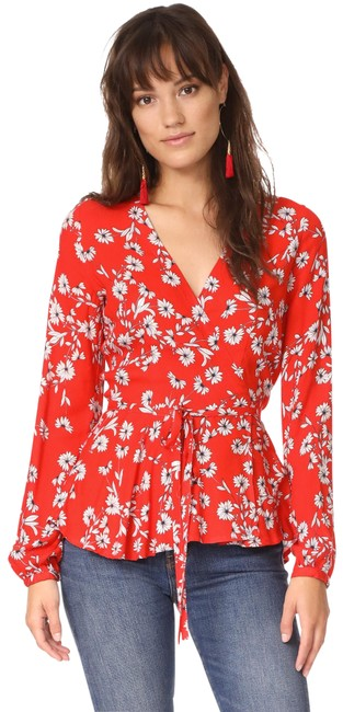 Preload https://img-static.tradesy.com/item/25346049/yumi-kim-red-soho-chic-floral-blouse-size-0-xs-0-1-650-650.jpg