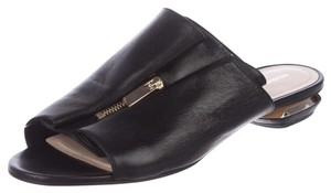 Nicholas Kirkwood Slides Sandals Leather Black Flats