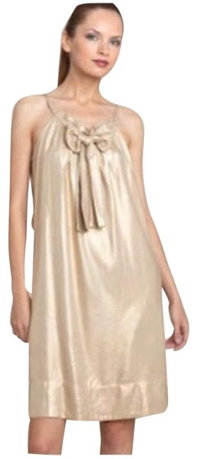 Item - Gold Elicia Mid-length Night Out Dress Size 12 (L)