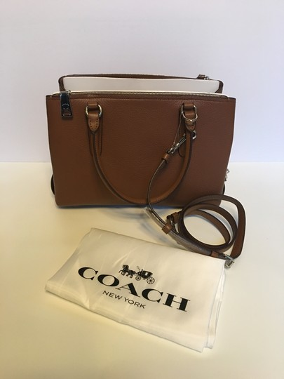 Coach Oxblood Brooklyn Satchel in saddle brown Image 1