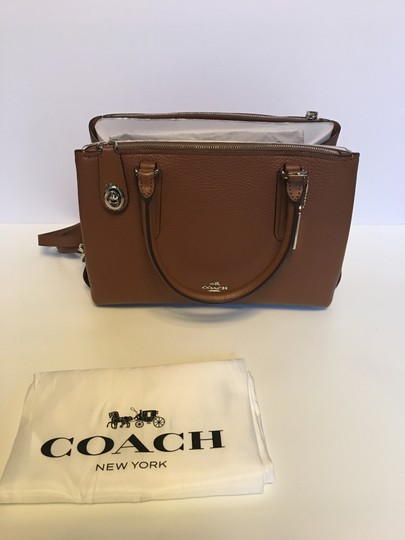 Coach Oxblood Brooklyn Satchel in saddle brown Image 5