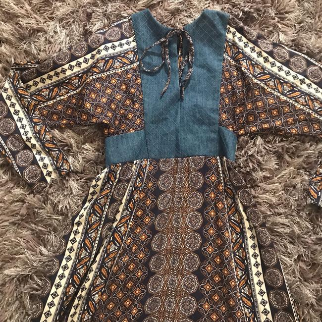 blue brown white Maxi Dress by Warm Image 2