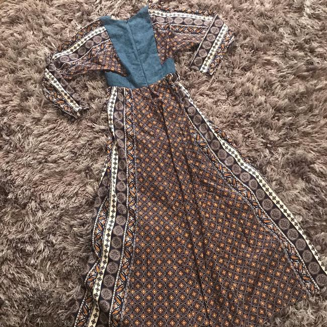 blue brown white Maxi Dress by Warm Image 6