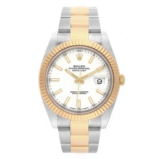 Rolex Rolex Datejust 41 Steel Yellow Gold White Dial Mens Watch 126333 Image 1