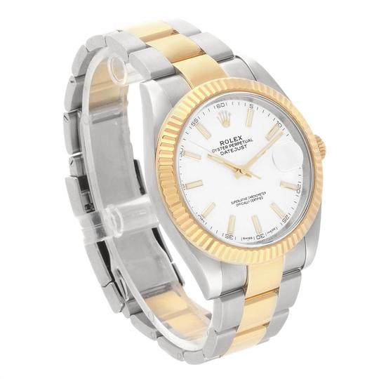 Rolex Rolex Datejust 41 Steel Yellow Gold White Dial Mens Watch 126333 Image 2